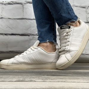 {Adidas} leather tie tennis shoes